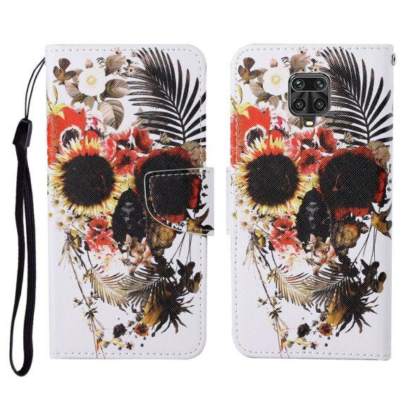 Housse Xiaomi Redmi Note 9 Pro fleurs exotiques