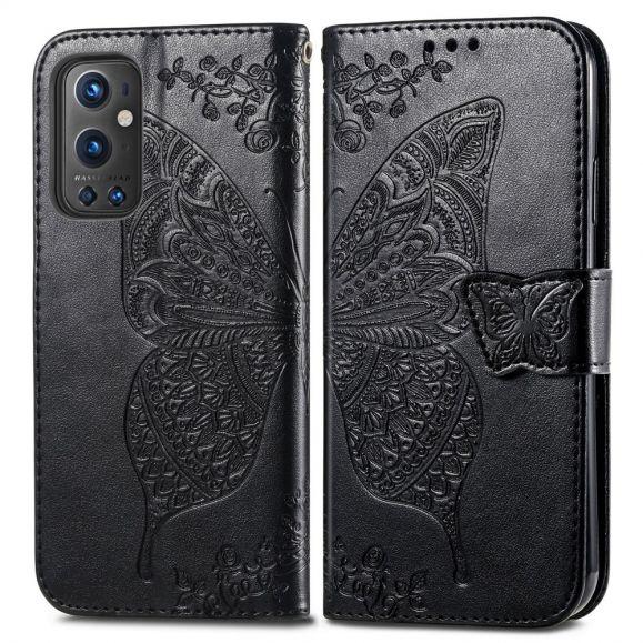 Housse OnePlus 9 Pro Papillon Relief