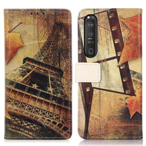 Housse Sony Xperia 1 III Tour Eiffel en Automne
