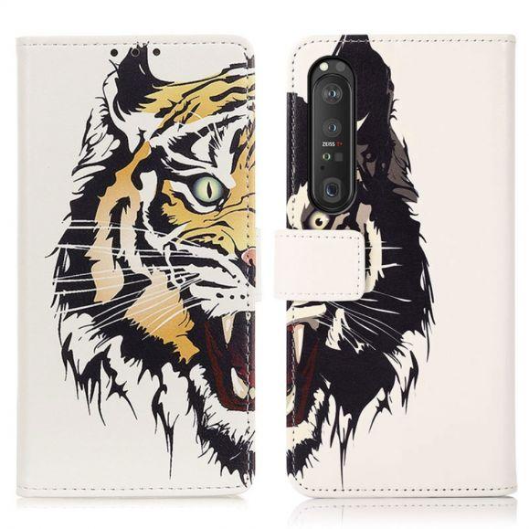 Housse Sony Xperia 1 III Tigre féroce