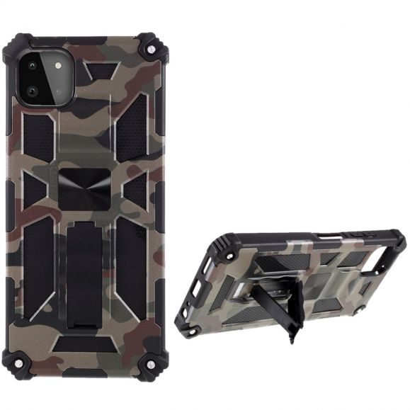 Coque Samsung Galaxy A22 5G Camouflage Militaire Fonction Support