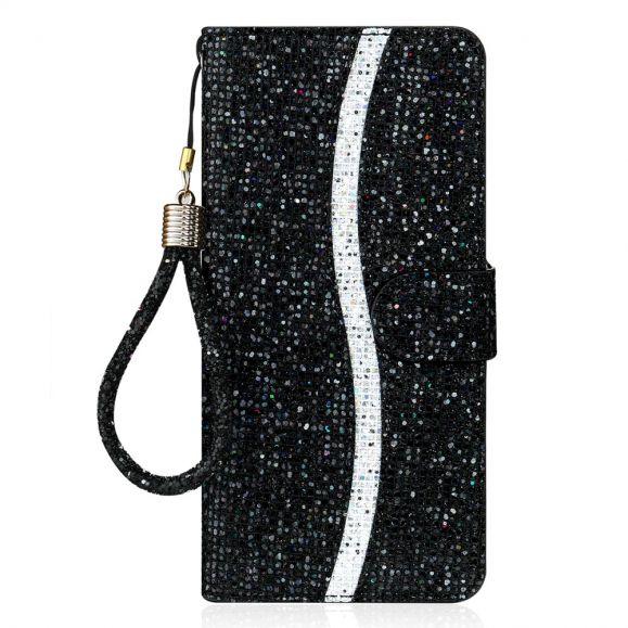 Housse Samsung Galaxy A22 5G Glitter Porte Cartes