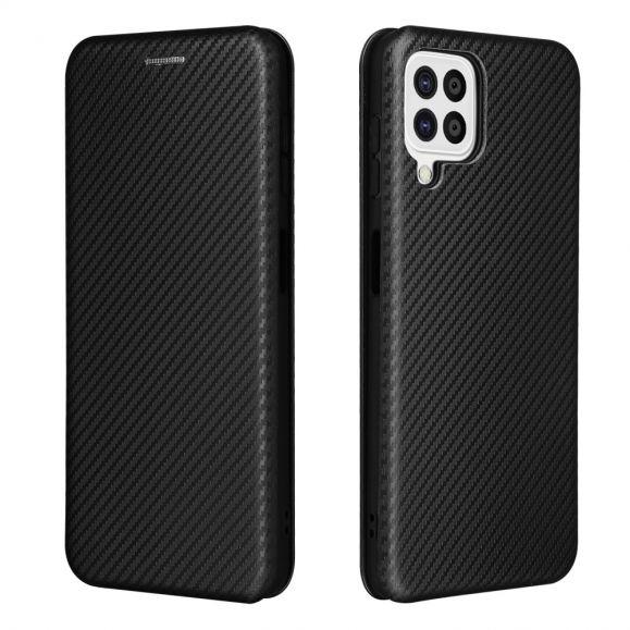 Housse Samsung Galaxy A22 4G Simili Cuir Style Fibre de Carbone