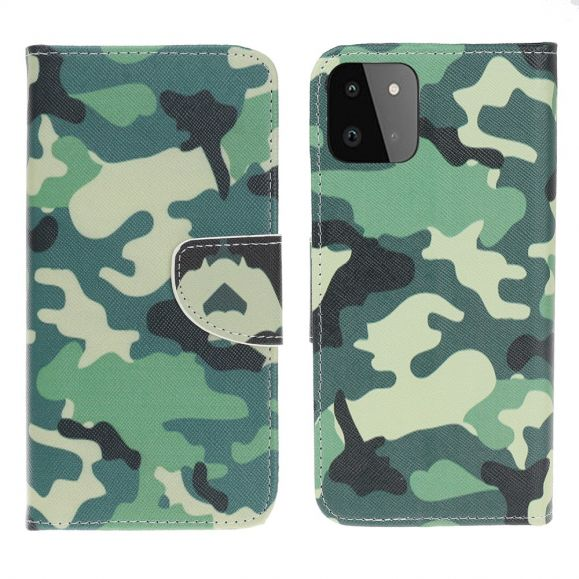 Housse Samsung Galaxy A22 5G Camouflage Militaire