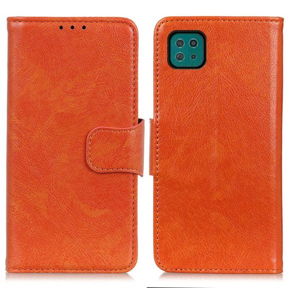 Housse Samsung Galaxy A22 5G imitation cuir nappa