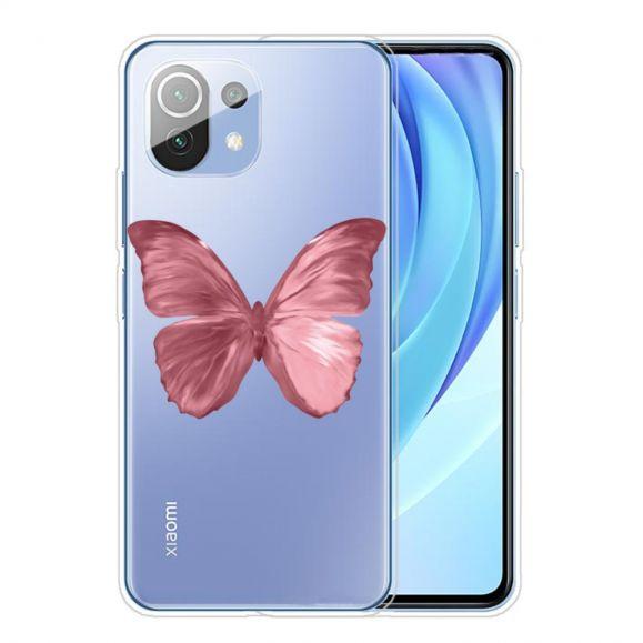 Coque Xiaomi Mi 11 Papillon Rose