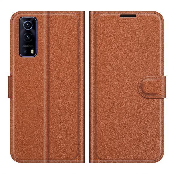 Housse Vivo Y72 5G portefeuille style cuir