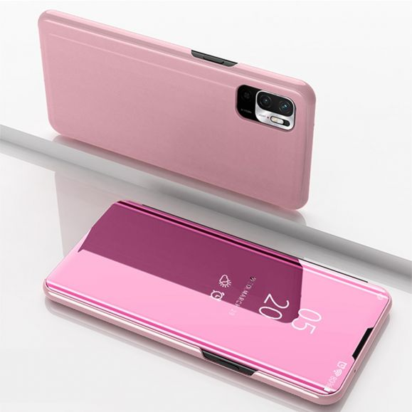 Coque Xiaomi Redmi Note 10 5G / Poco M3 Pro avec rabat effet miroir