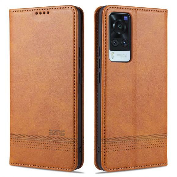 Étui portefeuille Vivo X60 AZNS simili cuir