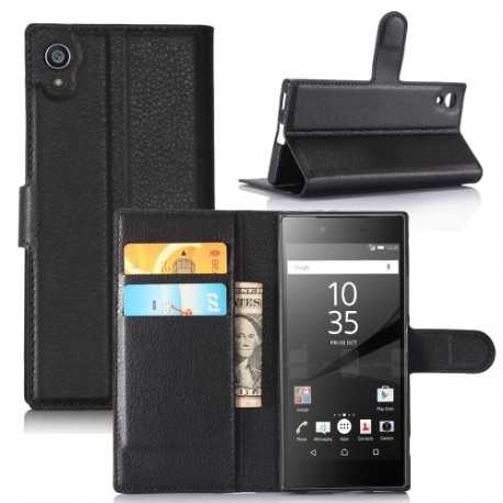 Housse Sony Xperia XA1 Portefeuille Style Cuir