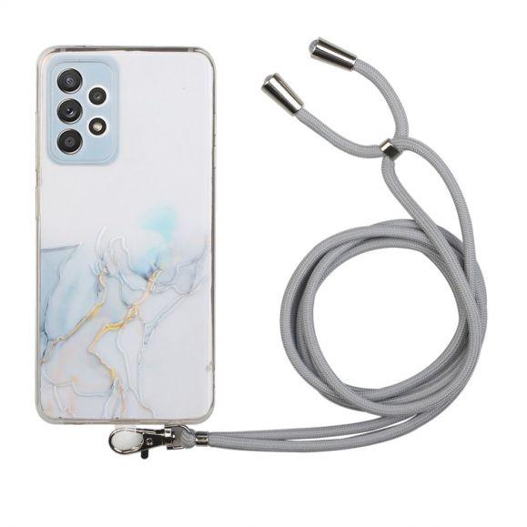 Coque Samsung Galaxy A32 5G Marbre avec cordon bandoulière