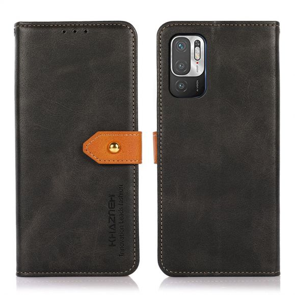 Housse Xiaomi Redmi Note 10 5G / Poco M3 Pro KHAZNEH Bicolore simili cuir