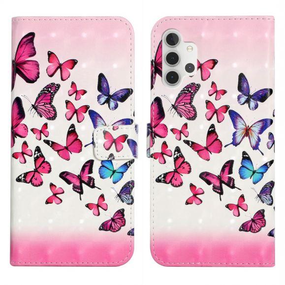 Housse Samsung Galaxy A32 5G papillons colorés
