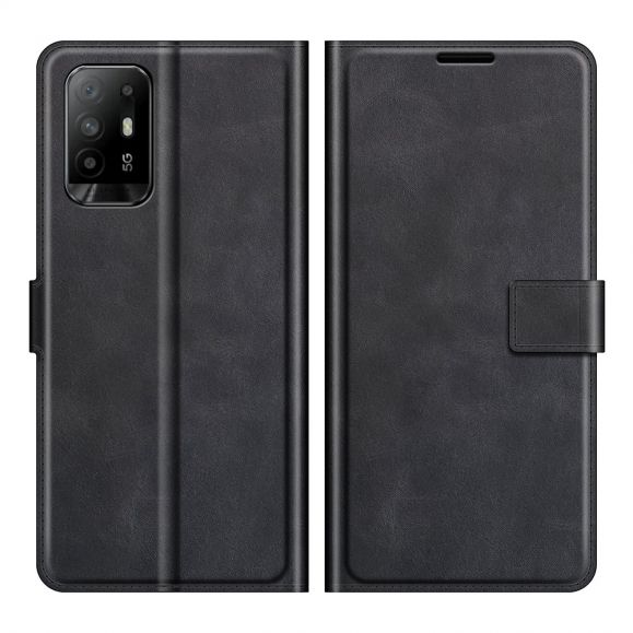Housse Oppo A94 5G portefeuille style cuir