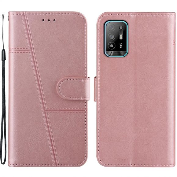 Housse Oppo A94 5G Lines Effet Cuir