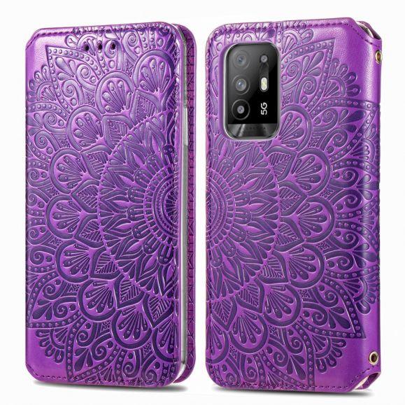 Housse Oppo A94 5G Chic Mandala simili cuir