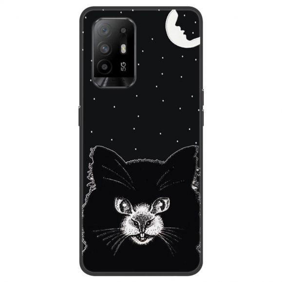 Coque Oppo A94 5G Black Cat en silicone