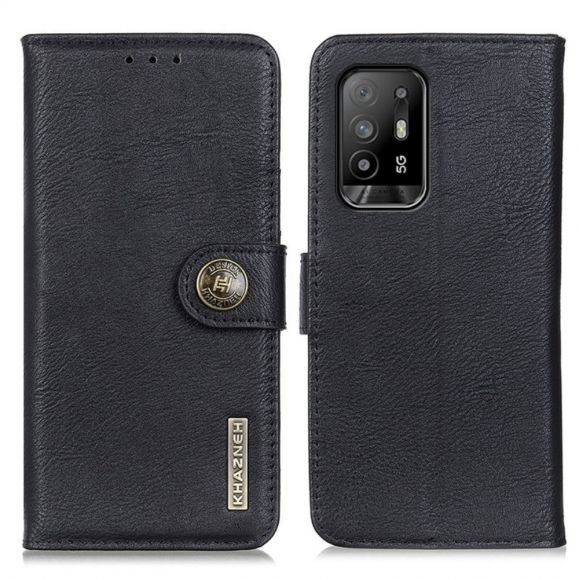 Housse Oppo A94 5G KHAZNEH Effet Cuir Porte Cartes