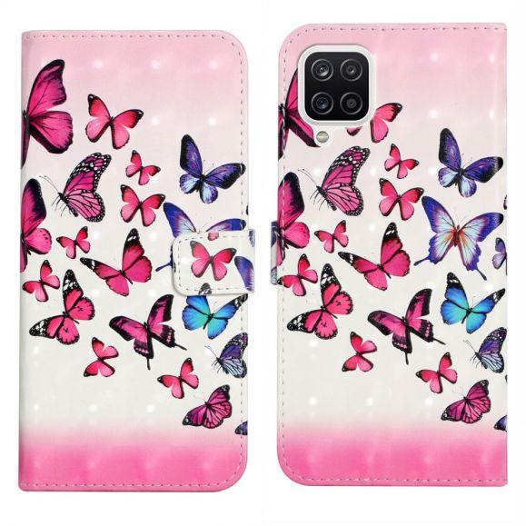 Housse Samsung Galaxy A22 4G papillons colorés