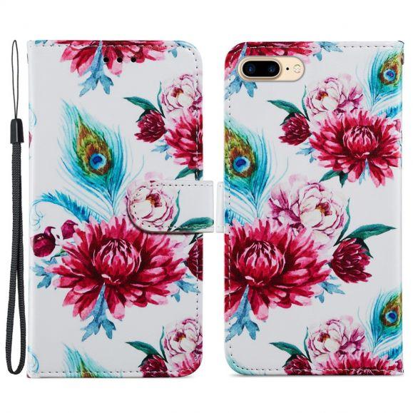 Housse iPhone 8 Plus / 7 Plus Paon fleur