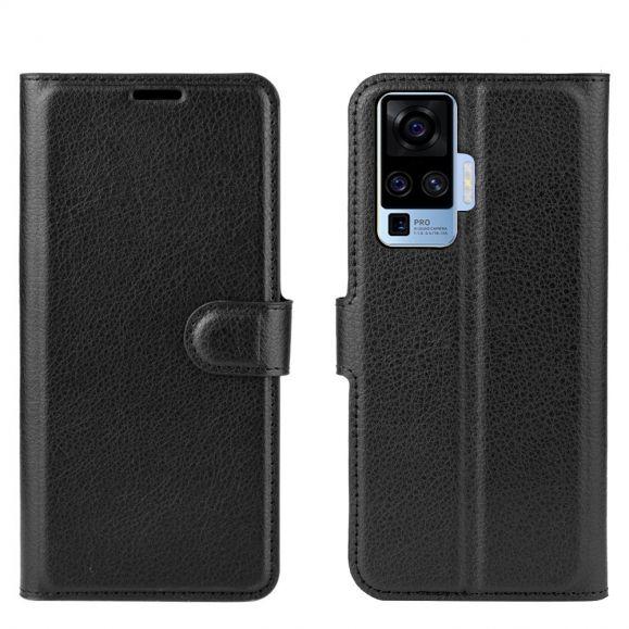 Housse Vivo X51 5G portefeuille style cuir