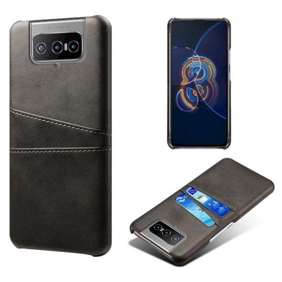 Coque Asus Zenfone 8 Flip Mélodie effet cuir porte cartes