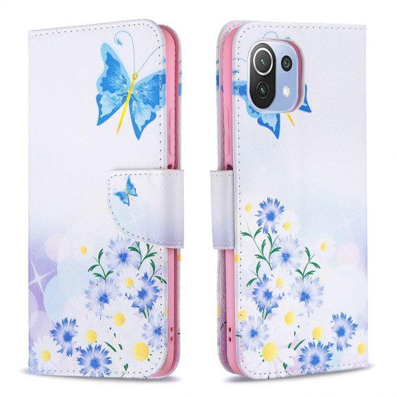 Housse Xiaomi Mi 11 Lite / Lite 5G papillon et marguerites