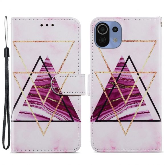 Housse Xiaomi Mi 11 Lite / Lite 5G Design Triangles