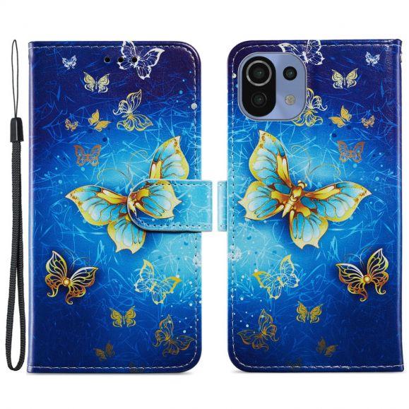 Housse Xiaomi Mi 11 Lite / Lite 5G Golden Butterfly