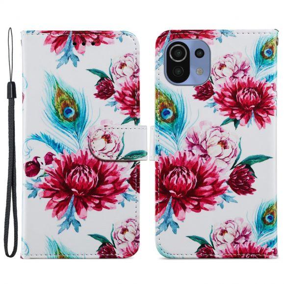 Housse Xiaomi Mi 11 Lite / Lite 5G Paon fleur