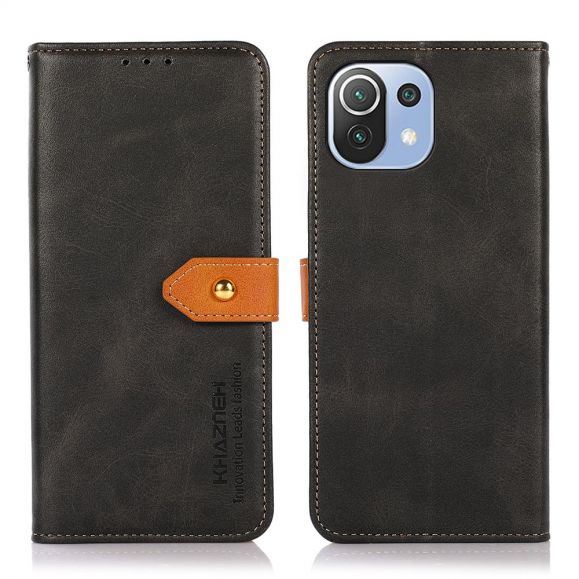 Housse Xiaomi Mi 11 Lite / Lite 5G KHAZNEH Bicolore simili cuir