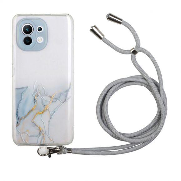 Coque Xiaomi Mi 11 Lite / Lite 5G Marbre avec cordon