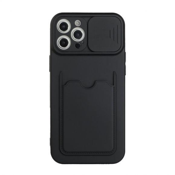 Coque iPhone 12 Pro Max porte carte avec cache objectif arrière