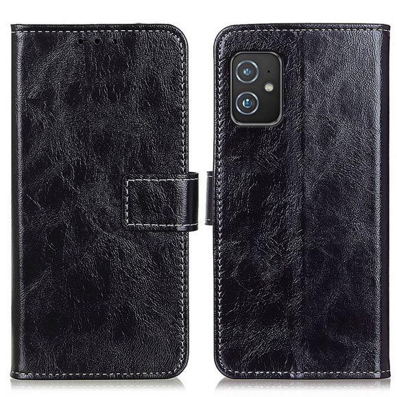 Housse Asus Zenfone 8 effet cuir luxueux coutures
