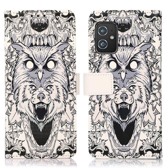 Housse Asus Zenfone 8 Hibou et Loup