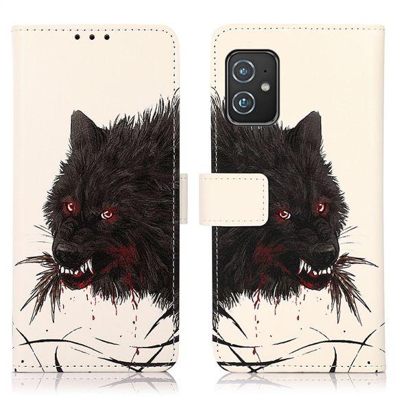 Housse Asus Zenfone 8 Loup noir