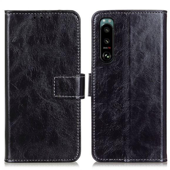 Housse Sony Xperia 5 III effet cuir luxueux coutures