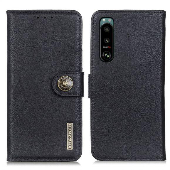 Housse Sony Xperia 5 III KHAZNEH Effet Cuir Porte Cartes