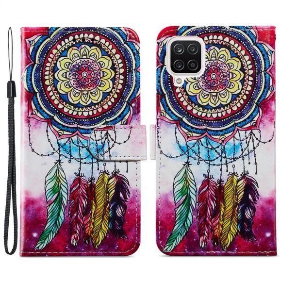 Housse Samsung Galaxy A12 Attrape rêves coloré