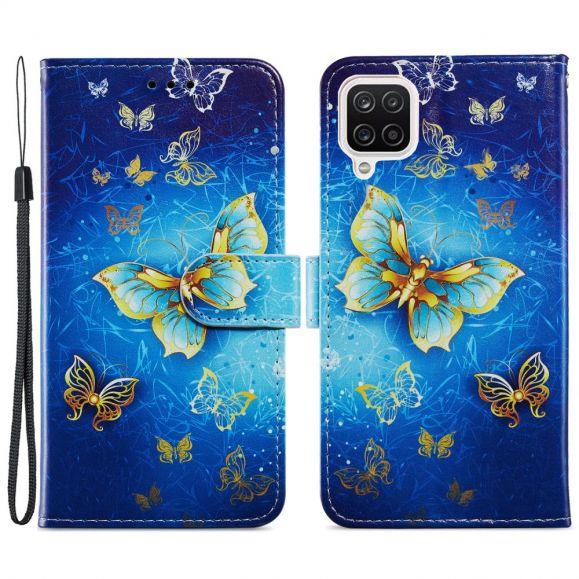 Housse Samsung Galaxy A12 Golden Butterfly