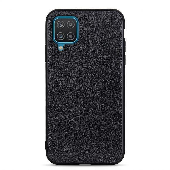 Coque Samsung Galaxy A12 cuir véritable grainé