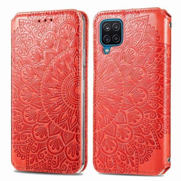 Housse Samsung Galaxy A12 Chic Mandala simili cuir