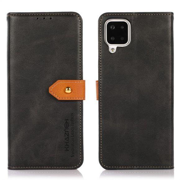 Housse Samsung Galaxy A12 KHAZNEH Bicolore simili cuir