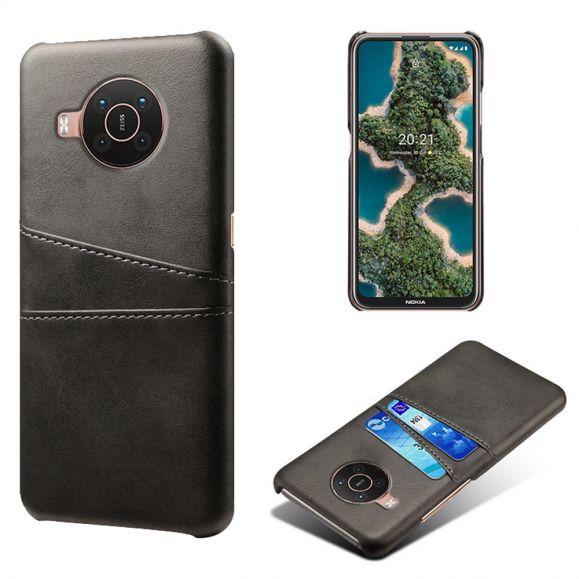 Coque Nokia X20 / X10 Mélodie effet cuir porte cartes