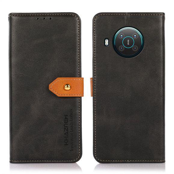 Housse Nokia X20 / X10 KHAZNEH Bicolore simili cuir