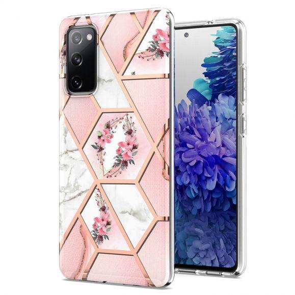 Coque Samsung Galaxy S20 FE marbre et couronne de fleurs