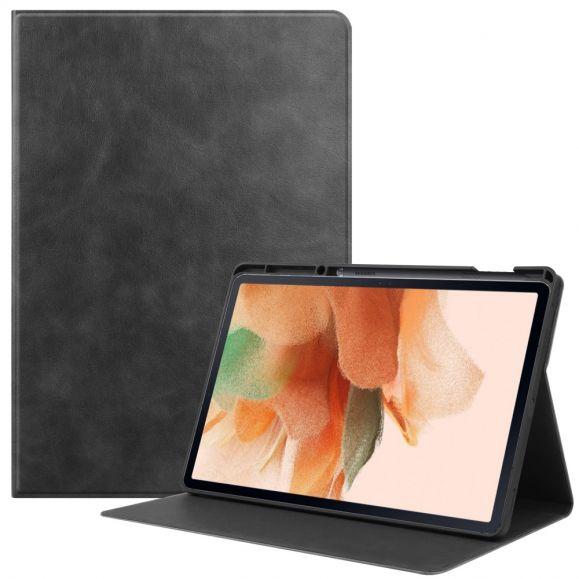 Housse Samsung Galaxy Tab S7 FE simili cuir rétro