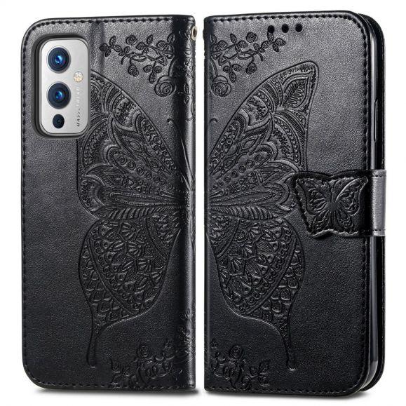 Housse OnePlus 9 Papillon Relief