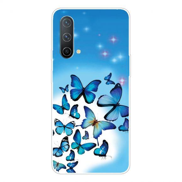 Coque OnePlus Nord CE 5G Papillons Bleus