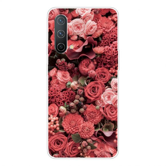Coque OnePlus Nord CE 5G Red Flower
